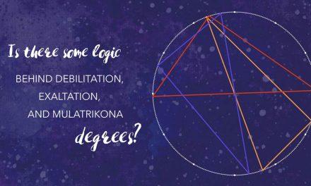 Logic behind exaltation, debilitation and mulatrikona degrees