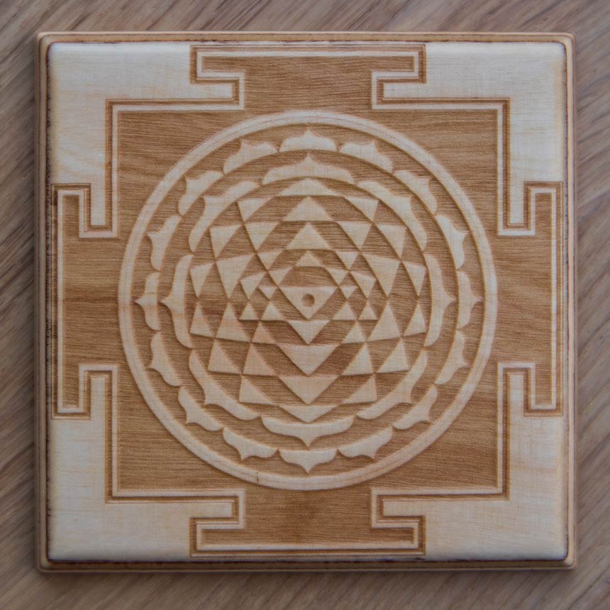 Sri Yantra (wood) - 2 styles